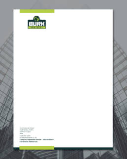 Burk Projects Letterhead Uai